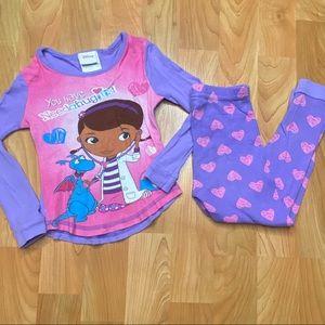 4/$20 - Toddler girls Doc McStuffins pajama set
